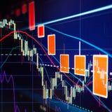 Распродажа фондовой биржи - диаграммы и диаграммы запаса Стоковые Фото