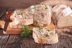 Распространение и хлеб мяса Стоковые Фото