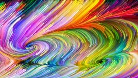 Распространение краски цифров Стоковое Изображение