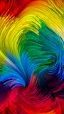 Распространение краски цифров Стоковое Фото