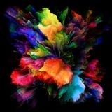 Распространение красочного взрыва выплеска краски стоковые фото