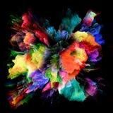 Распространение красочного взрыва выплеска краски стоковое фото rf