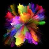 Распространение красочного взрыва выплеска краски стоковое изображение rf