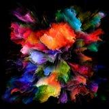Распространение красочного взрыва выплеска краски стоковые изображения