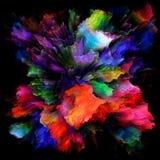 Распространение красочного взрыва выплеска краски стоковая фотография rf