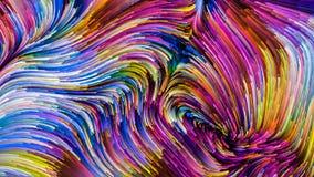 Распространение красочной краски иллюстрация штока