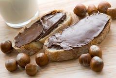 распространение шоколада хлеба Стоковое Изображение RF