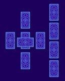 Распространение tarot кельтского креста Сторона карточки задняя Стоковая Фотография