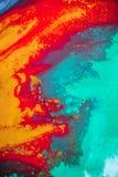 Распространения покрасили цвета чернил на белой предпосылке Стоковое фото RF