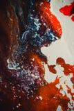 Распространения покрасили цвета чернил на белой предпосылке Стоковое Фото