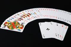 распространенный играть карточек предпосылки черный Стоковые Изображения