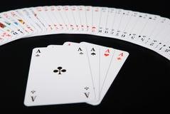 распространенный играть карточек предпосылки черный Стоковая Фотография RF
