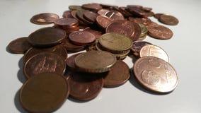 Распространите монетки Стоковые Изображения RF
