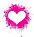Распыленное сердце Стоковые Фотографии RF