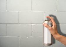 распыляя стена Стоковое Изображение