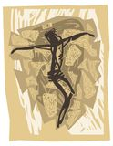 распянный jesus Стоковая Фотография RF