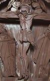 Распятый Иисус Христос (старая деревянная скульптура) Стоковое Фото