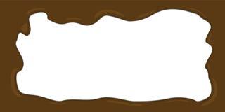 Расплавленная иллюстрация вектора рамки шоколада Стоковое Изображение RF