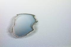 Расплавленная лужица воды Стоковое фото RF