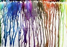 Расплавленные crayons на холстине Стоковая Фотография