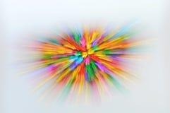 Расплывчатое красочное распространение колокола методом сигнала на белой предпосылке Стоковая Фотография RF