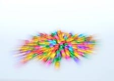Расплывчатое красочное распространение колокола методом сигнала на белой предпосылке Стоковые Фото