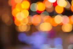 Расплывчатое оранжевое bokeh Стоковая Фотография RF