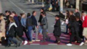 Расплывчатые пешеходы (11) сток-видео