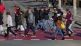 Расплывчатые пешеходы (09) акции видеоматериалы
