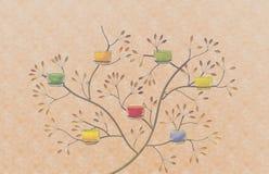 Расплывчатый бумажных текстуры grunge листа и конспекта алюминиевых картины и свечи дерева в кофейной чашке Стоковое фото RF