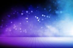 Расплывчатый голубой интерьер этапа иллюстрация вектора