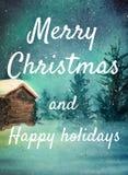 Рассвет акварели С Новым Годом! поздравительная открытка поздравлению иллюстрация штока