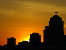 Рассвет большой нации стоковая фотография rf