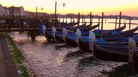 Рассвет в гавани Сан Marco Италия venice акции видеоматериалы