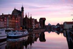 Рассвет в Гданьске Стоковое фото RF