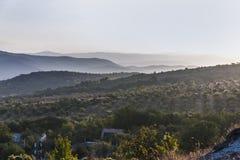 Рассвет в горной области Стоковые Изображения RF