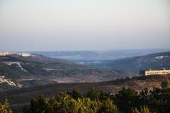 Рассвет в горной области Стоковая Фотография RF