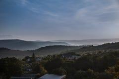 Рассвет в горной области Стоковое фото RF
