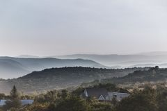 Рассвет в горной области Стоковое Фото