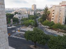 Рассвет в городском Иерусалиме Израиле стоковое фото