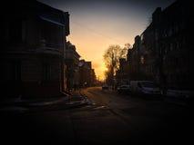 Рассвет в городе Стоковое Фото