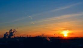 Рассвет в городе Стоковые Изображения