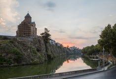 Рассвет в старом городе Тбилиси Стоковая Фотография