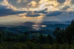 Рассвет в южной Польше Стоковые Фото