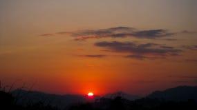 Рассвет в itanagar, Arunachal Pradesh Стоковые Изображения RF