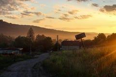 Рассвет в Masendorf Трансильвании Румынии стоковое изображение rf