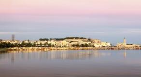 Рассвет города Rethymnon Стоковые Изображения RF