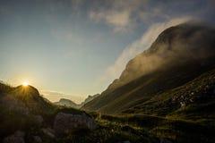 Рассвет горы Стоковое фото RF