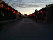 Рассвет древнего города Pingyao стоковое изображение rf