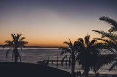 Рассвет из окна гостиницы стоковое изображение